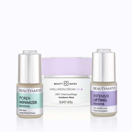 Beautymates Age Perfect Kit aus Poren Minimizer Booster, Intensiv Lifting Booster und Hyaluron Cream Lift