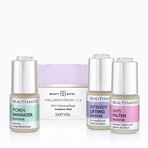 Beautymates Age Perfect Collection aus Hyaluron Cream Lift, Intensiv Lifting Booster, Anti Falten Booster und Poren Minimizer
