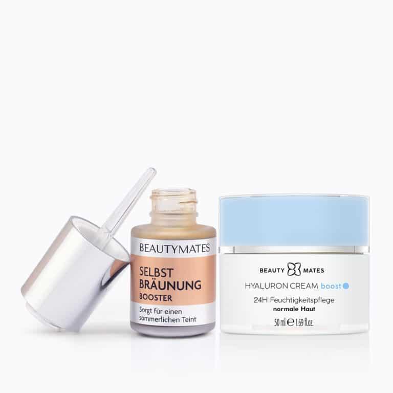 Beautymates Summer Skin Set aus Hyaluron Cream Boost & Selbstbräuner