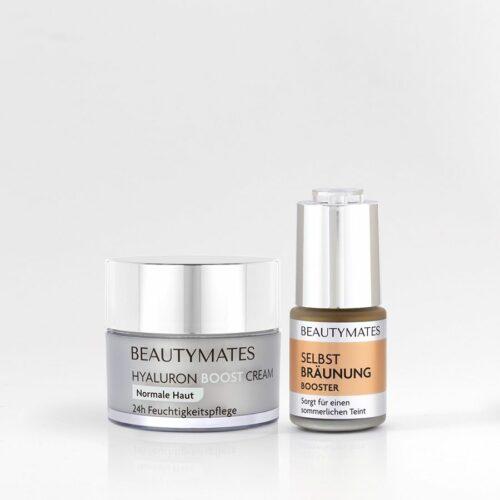 Beautymates Summer Skin Set aus Hyaluron Boost Cream und Selbstbräuner