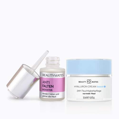 Beautymates Age Perfect Set aus Hyaluron Cream Boost und Anti Falten Booster