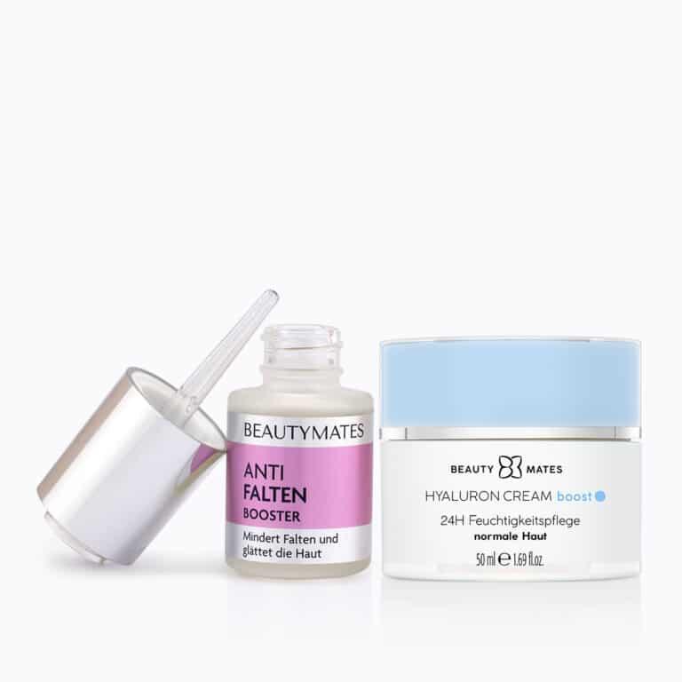 Beautymates Age Perfect Set aus Hyaluron Cream Boost und Anti Falten Booster