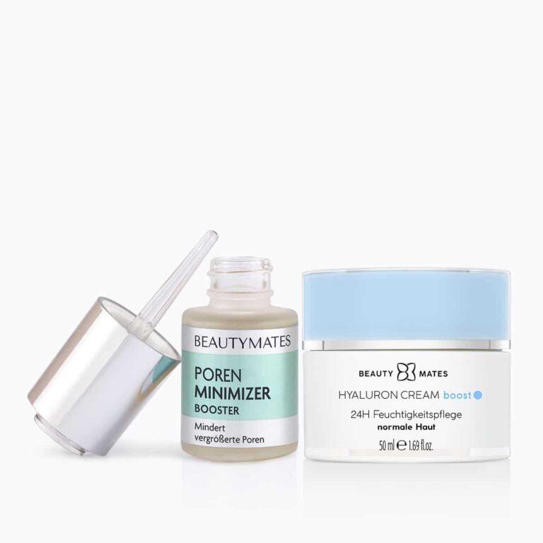 Beautymates Even Skin Set aus Poren Minimizer und Hyaluron Cream Boost